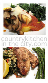country kitchen in the city