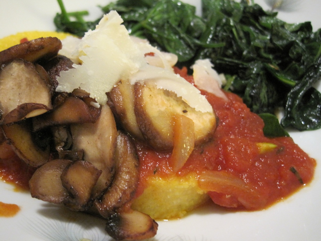 country style polenta dinner