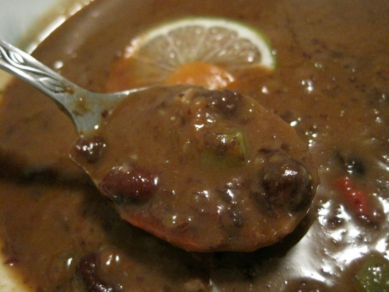black bean soup recipe detail