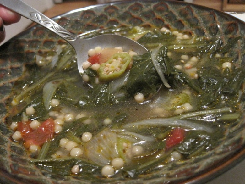 dandelion green soup