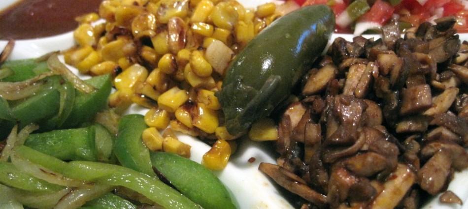 veggie taco platter