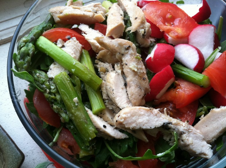 asparagus chicken salad