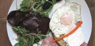 B&B: blackberry brunch and ham