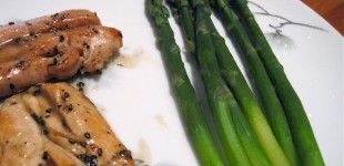 15min-din: sesame lemon chicken with asparagus