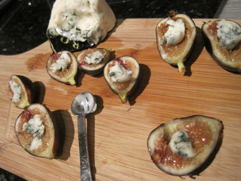 roquefort stuffed black mission figs