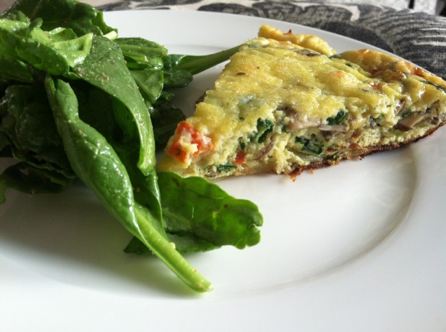 weekend special: the leftover veggie frittata
