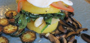 countryside brunch: polenta and eggs