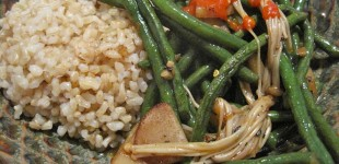 chinese snake bean stir fry
