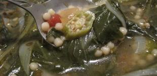 green-power dandelion soup