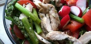 leftovers: asparagus chicken salad