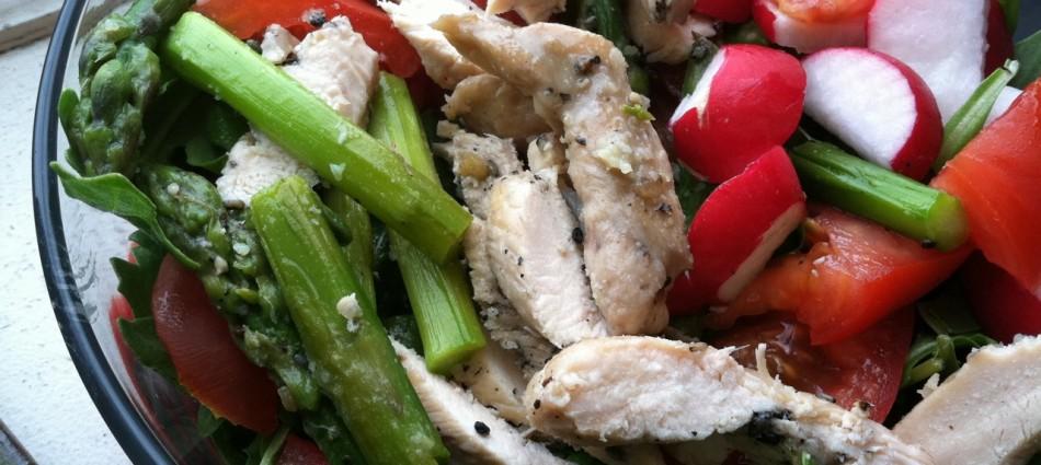 asparagus chicken salad