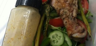 tips: work lunch salad dressing