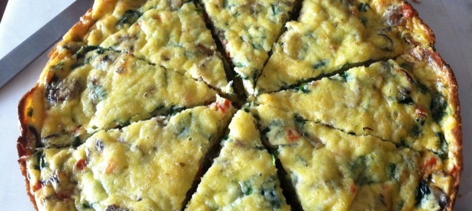 the leftover veggie weekend frittata